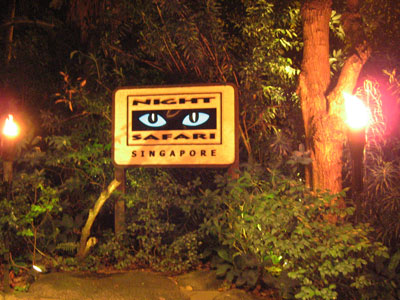 Night Safari Singapore Entrance Sign Nachtzoo Singapur Bild Eingangsschild